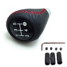 цена на Universal 5 Speed Manual Car Gear Shifter Shift Lever Knob Cover Leather gear lever