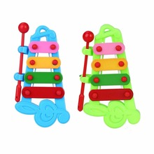 Baby 4-Note Musical Melodious Development Hand-Ear Coordination Interest Xylophone For Children 2 Colors
