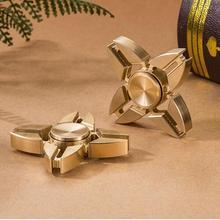 2017 hot New EDC Tri Spinner Fidget Toys Pattern Hand Spinner Metal Fidget Spinner and ADHD