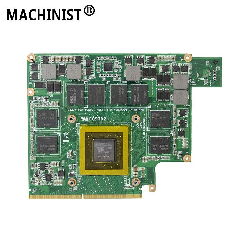 GTX560M 3 GO Pour ASUS G53SW G53SX G73JW G73SW G53JW 2.0 portable Vidéo Carte Graphique GPU N12E-GS-A1