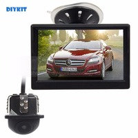 DIYKIT Wired 5 Inch HD LCD Display Rear View Monitor Car Monitor Mini Car Cam Rear