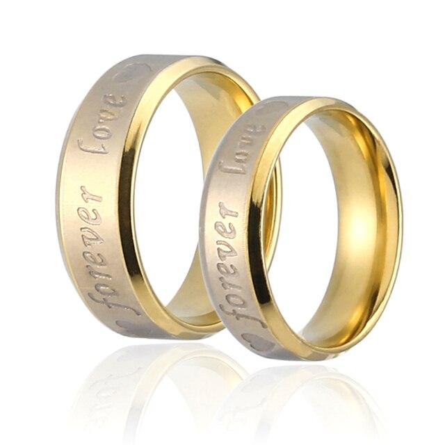 LNRRABC 1pc New Hot Sale Classics Men/Women Chic Couple Ring Forever Love Steel