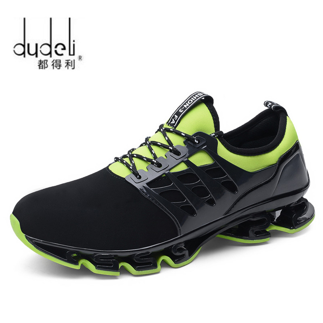 4fd1c0f495555 DUDELI Super Cool breathable running shoes men sneakers bounce summer  outdoor sport shoes Professional Training shoes size 48