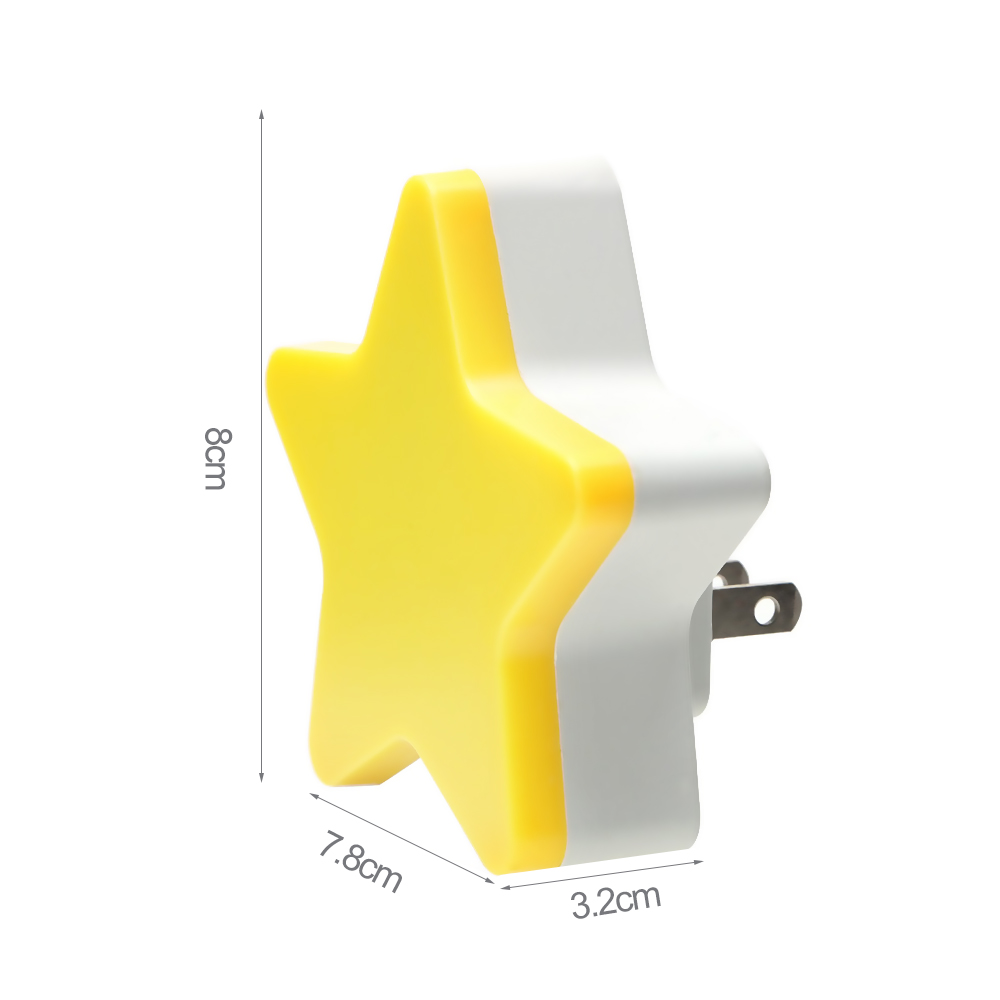 Image 3 - 4Color Mini Star LED Night Light With EU/US Plug for Dark Night Baby Sleeping Light Bedside Lamps LED Sensor Control Night Light-in LED Night Lights from Lights & Lighting