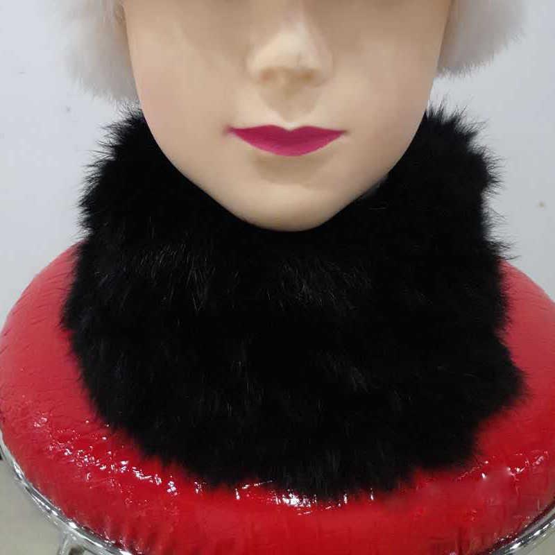 Naturale Sciarpa di Pelliccia di Coniglio Per Le Donne di Inverno 2019 di Marca Maglia Femminile fazzoletto da collo di Pelliccia Vera Sciarpe anello del collo Collo di pelliccia multi colori