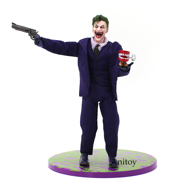 MEZCO Batman The Joker 1/12 Scale PVC Action Figure Collectible Model Toy (Real Clothing) 16cm-in Action & Toy Figures from Toys & Hobbies    3