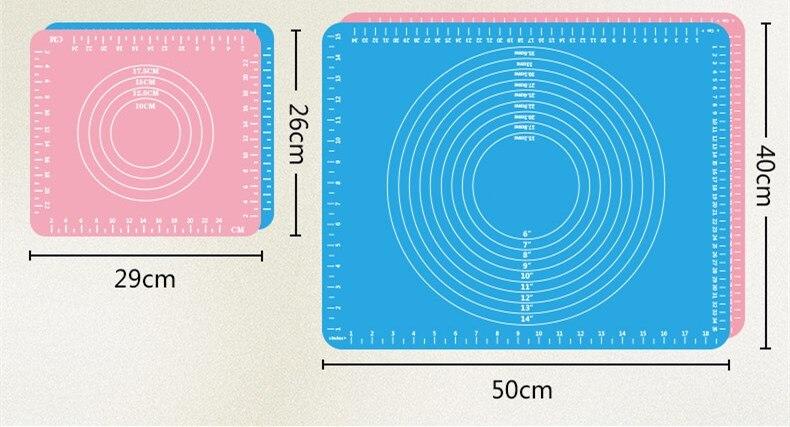 Feigo 50*40cm mais espessa almofada de silicone