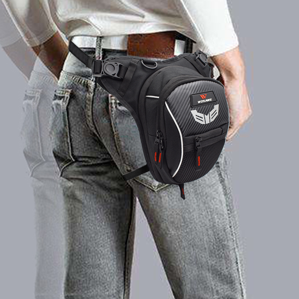 WOSAWE Motorcycle Drop Leg Bag 3layer Multifunction Travel Bag Backpack Waterproof Fanny Pack Cell Phone Purse Storage Bag