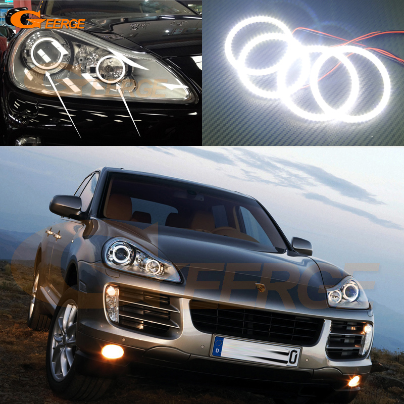 For Porsche Cayenne 957 2007 2008 2009 2010 Excellent Angel Eyes Ultra bright illumination smd led Angel Eyes Halo Ring kit