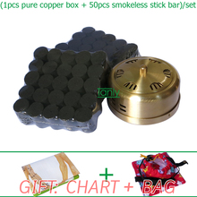 Wholesale and Retail new type thicken pure copper health beauty fumeless adjustable hoel moxa moxibustion set