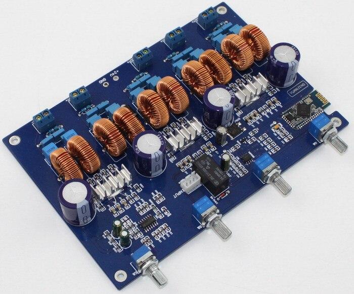 Frss Shipping  NEW 4.1 channel TPA3116 4*50W+100W digital stereo Bluetooth bass power amplifier boardFrss Shipping  NEW 4.1 channel TPA3116 4*50W+100W digital stereo Bluetooth bass power amplifier board