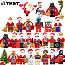 Single Sale Merry Christmas Darth Vader Yoda Deadpool Joker Granny Santa Claus Building Blocks Gifts Toys