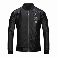 Free shipping windproof Faux Leather Men 2018 Autumn Winter Men's Motorcycle Coat Handsome Leather Thin Slim Jacket outdoors