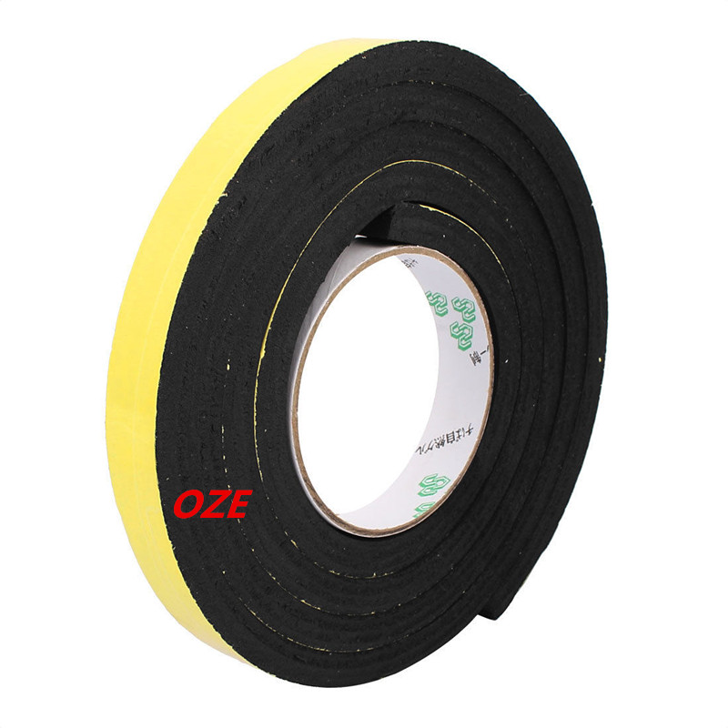 1PCS 20mm Width Single Side Self Adhesive Shockproof Sponge Foam Tape 2 Meters Length 1pcs single sided self adhesive shockproof sponge foam tape 2m length 6mm x 80mm