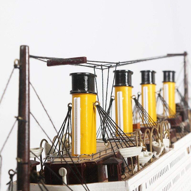 Maquettes de navires en bois Titanic en bois Kits de maquettes de navires en bois à del 55cm maquettes de bateaux à l'échelle Voyager modèles d'outils de modélisation jouet de bricolage passe temps - 3