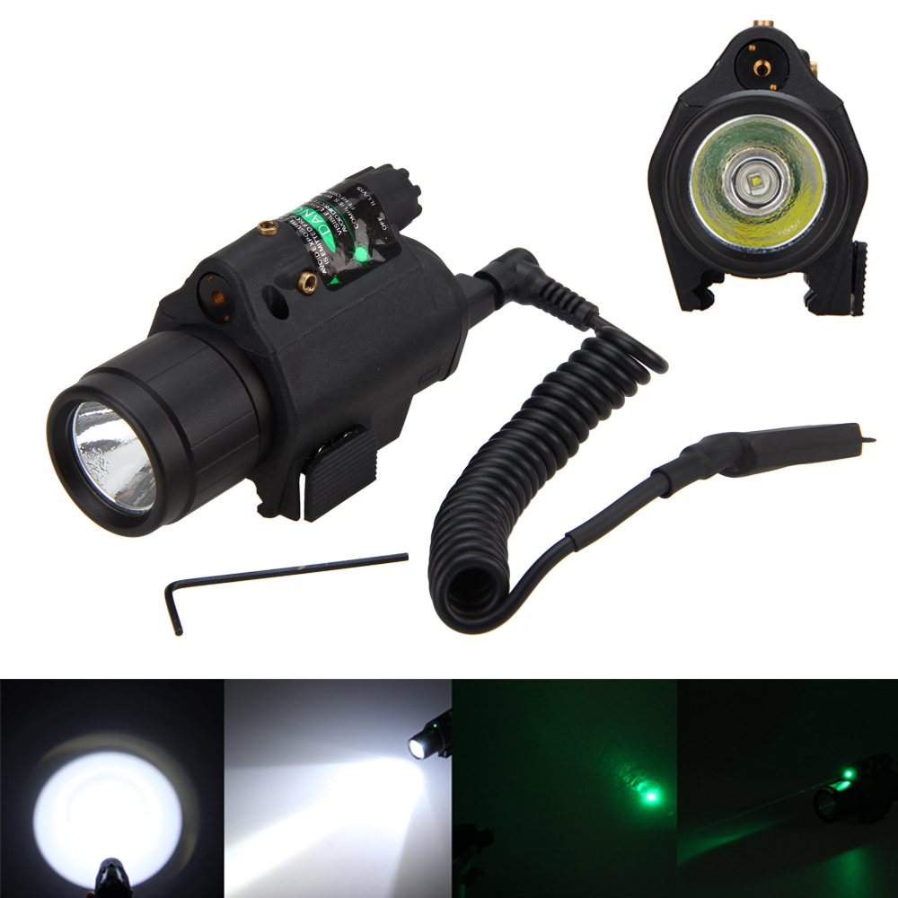 Hunting Optics Tactical Red/Green Rifle Laser Dot LED Flashlight Laser Combo Handgun Sight for 20mm Rail tactical hunting compact green dot laser sight scope with led flashlight combo fit for 20mm rail