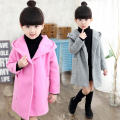 Female child outerwear autumn child 2016 wool woolen overcoat child  spring and autumn  little girl trench