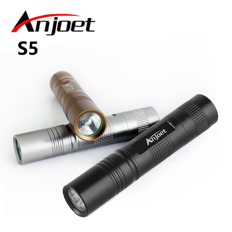 Negru / Argintiu / Maro Mini Q5 LED 1000LM Moduri de iluminat portabile Lanterna de înaltă calitate Lumină 18650 Torță Lanternă Tactică