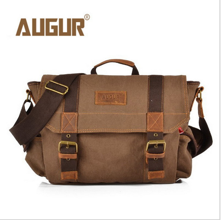 2016 Canvas Leather Crossbody Bag Men Military Army Vintage Messenger Bags Shoulder Bag Casual Travel  Bags 40*11*38cm new arrival canvas leather crossbody bag men military army vintage messenger bags postman large shoulder bag office laptop case