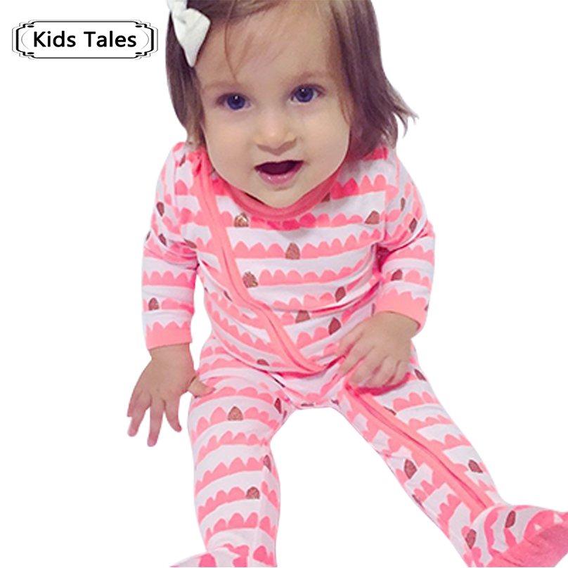 2018 Children's Clothing Pajamas Newborn baby rompers baby cotton long-sleeved overalls Boys Girls  Autumn bebes clothes SR105 2 pcs lot newborn baby girls clothing set cute pink cotton baby rompers boys jumpsuit roupas de infantil overalls coveralls