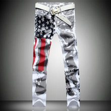2019 Jeans Men Pants Fear of God Trousers Pant Boost Biker Balmai Man Printing Masculina Ripped Jeans for Men Casual Printed(China)