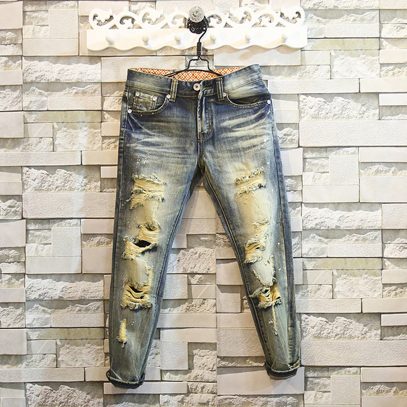 Aliexpress.com : Buy Awesome Design Slim Fit Jeans Vintage Washed