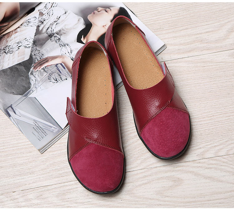 AH 1987-2019 Spring Autumn Women's Shoes Genuine Leather Woman Loafers-5