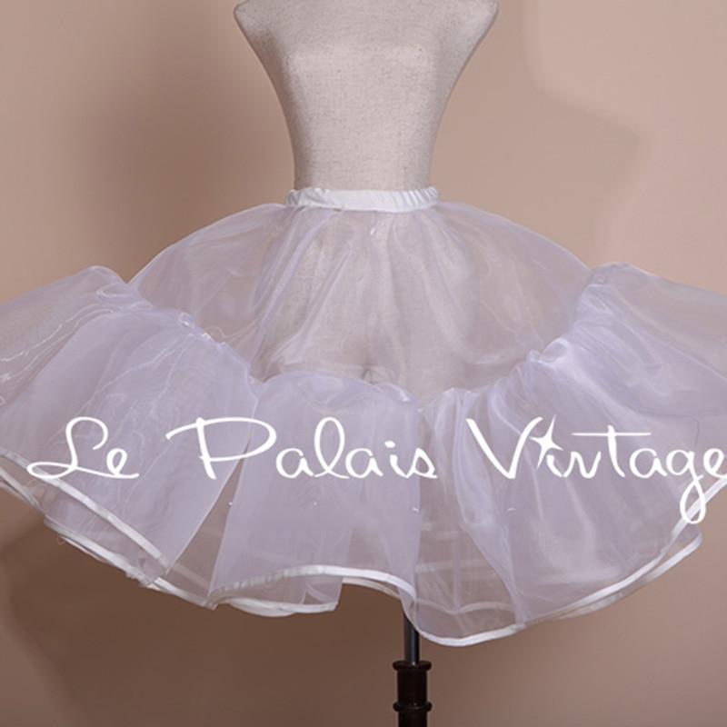 Palais Nuevo Puff Estilo underdress Enaguas Princesa Falda Exagerada Doble underskirt Vintage hilo 2014 Le BqwZdxd