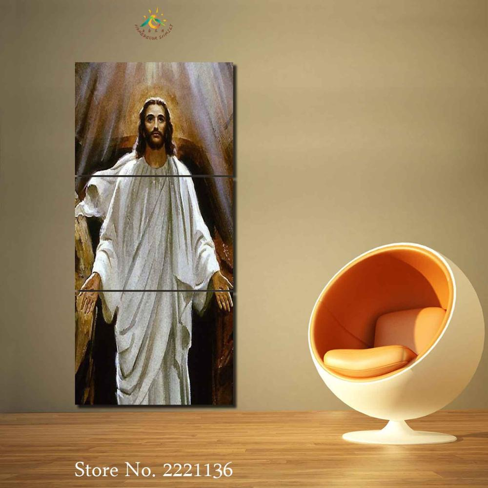 3 4 5 Pieces Jesus Christ Poster Pictures Print Canvas HD Printed ...