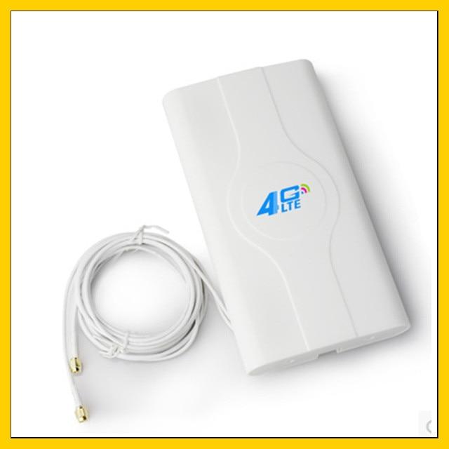 LF-ANT4G01 interior de alta ganancia 4G LTE antena MIMO con 2 m de cable de conector doble TS9/CRC9/SMA-macho
