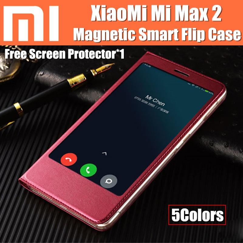 Xiaomi mi max 2 caso astuto di vibrazione funda copertura magnetica per auto sleep/wake up catman originale per xiaomi mi max2 max 2 coque casi