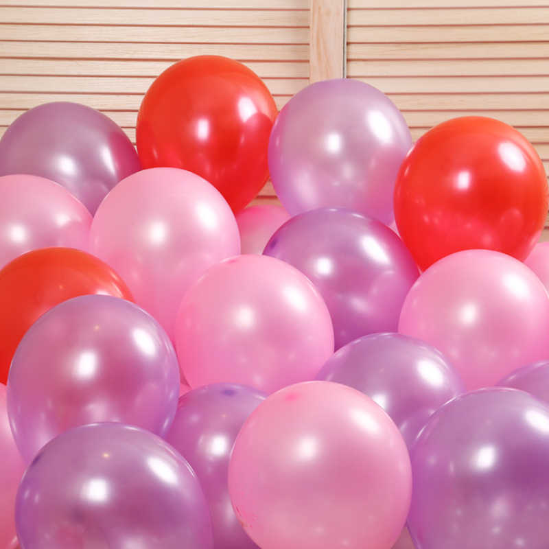 """30pcs/lot 10"""" 1.5g Pearl Pink White Latex Balloons Celebration Wedding Decorations Happy Birthday Party Balloon Mariage Supplies"""