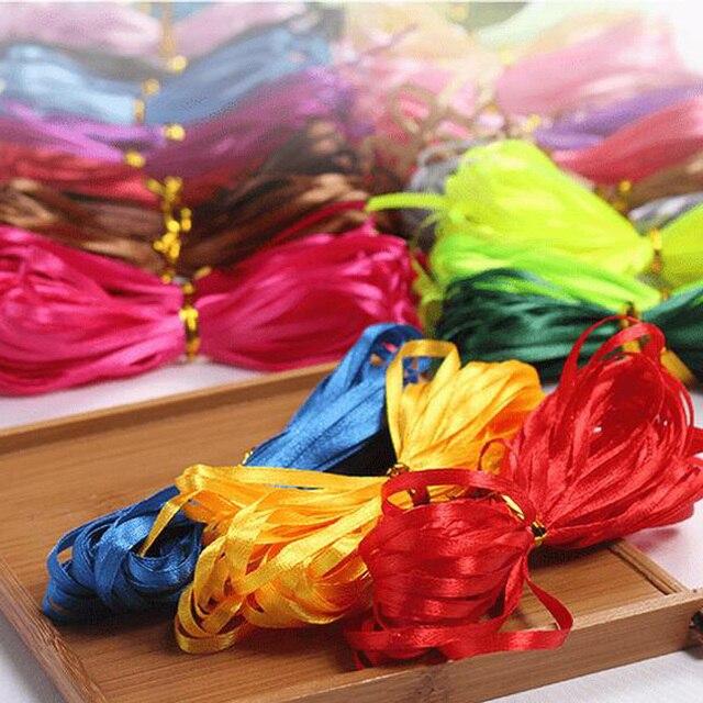 3mm 25 jardas 22 m barato fita de cetim para artes artesanato & costura decoração festa de casamento natal presente envoltório feito à mão diy material