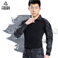 Military Uniform Multicam Army Combat Shirt Black for Men camouflage America US Army Hunting Tactica Shirts Frog Clothing