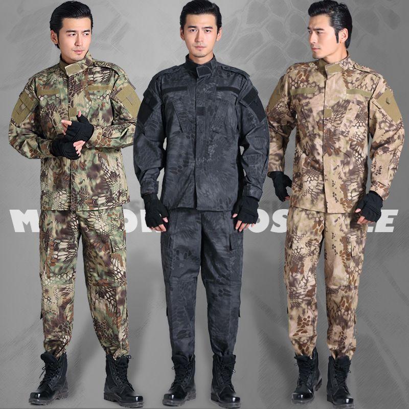 Haute Qualité Armée Militaire Tactique Cargo veste + pantalon Camouflage Uniforme de Combat Tactique Gear Combat En Plein Air matériel de camping