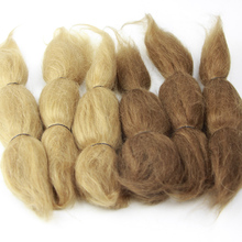 15g A Bundle Soft Mohair Brown or Khaki Fit For Reborn Baby Doll Accessories Dolls Real Mohair On Sale