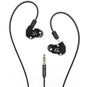 Image 2 - RevoNext QT2 לשלושה נהג באוזן HIFI להסרה Wired אוזניות סטריאו אוזניות עם דינמי ומאוזן אבזור היברידי נהג