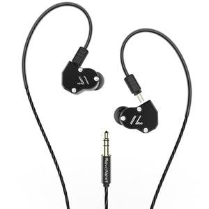 Image 2 - RevoNext QT2 Tripla Driver In Ear HIFI Staccabile Wired Auricolari Stereo del Trasduttore Auricolare con la Dinamica e Balanced Armature Ibrido Driver