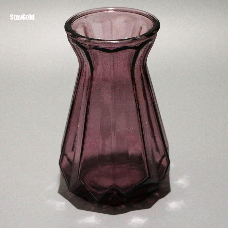Purple glass vase home decoration gift