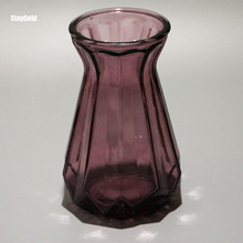 Purple glass vase home decoration gift