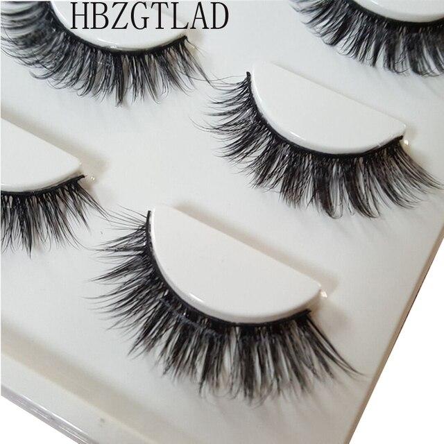 92682b33ea5 HBZGTLAD Sexy 100% Handmade 3D mink hair Beauty Thick Long False Mink  Eyelashes Fake Eye