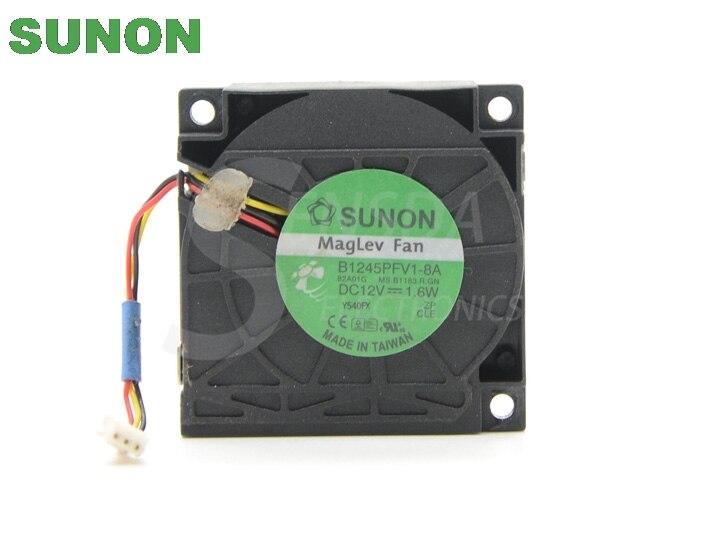 SUNON B1245PFV1-8A DC 12V 1 6W 45x45x10mm server inverter 3-wire blower  cooling fans cooler