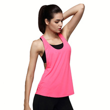 CKAHSBI Fitness Running T Shirts Women Sports Shirt Sleeveless Breathable Sport Gym Jersey Cool Loose Yoga Tops Female Top