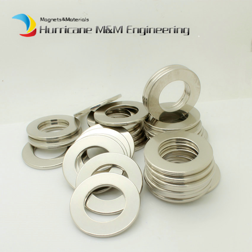 1 Pack N38SH NdFeB Magnet Ring Dia. 43.7x25.1x3 mm High Temp. Axially Magnetized Strong Neodymium Permanent Rare Earth Magnets1 Pack N38SH NdFeB Magnet Ring Dia. 43.7x25.1x3 mm High Temp. Axially Magnetized Strong Neodymium Permanent Rare Earth Magnets
