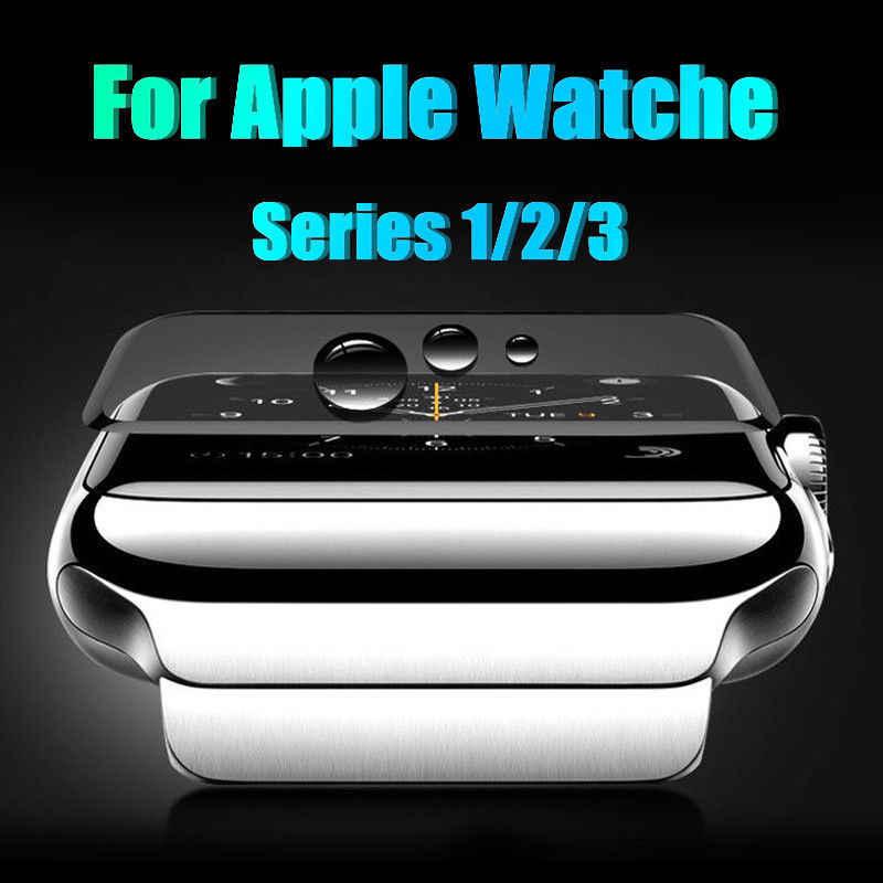 3d vidro temperado para apple watch 38mm 42mm 40mm 44mm série 4 3 2 1 5 cobertura completa borda curvada tpu protetor de tela para iwatch 5