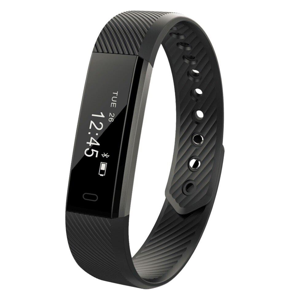 ID115 Smart Bracelet Fitness Tracker Passometer Sleep Monitor Track Smart Band Watch Alarm Clock Step Counter