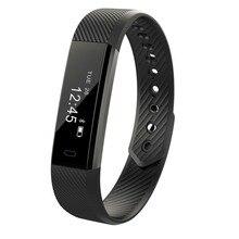 ID115 умный Браслет фитнес-трекер Шагомер Sleep Monitor трек Смарт часы будильник шаг счетчик фитнес-