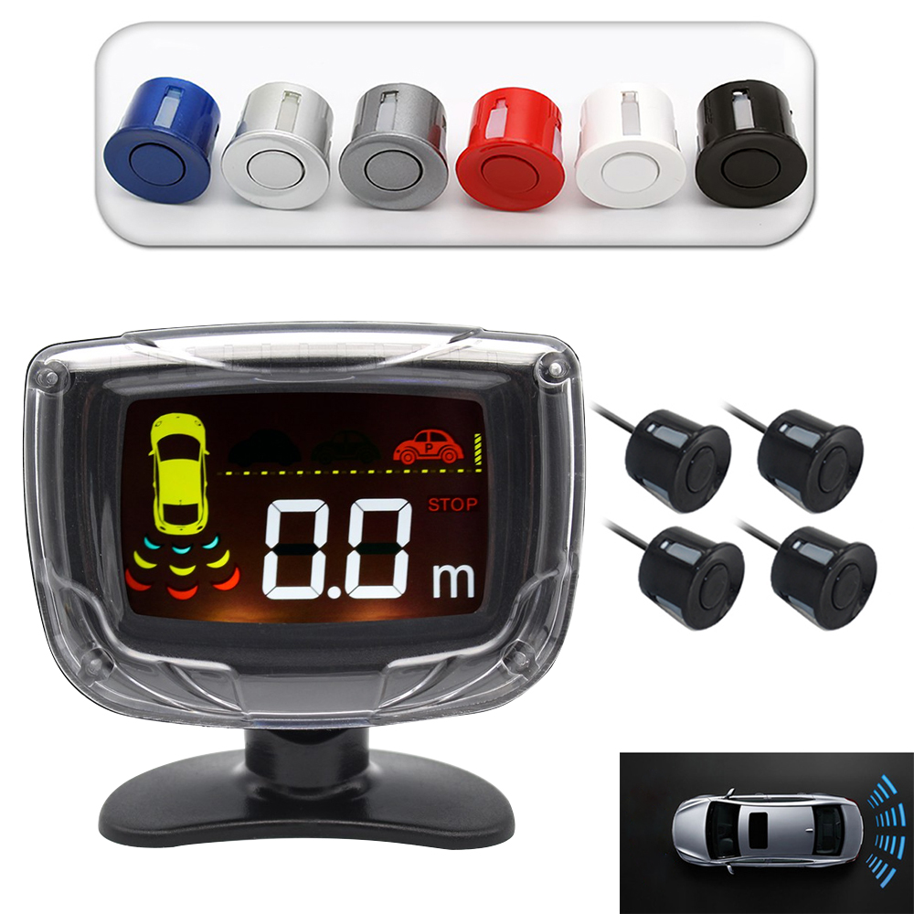 PZ312 Car Auto Parktronic Parking Sensor System With 4 Sensors Reversing Car Parking Radar Monitor Detector LED Display