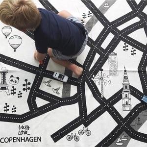 Image 4 - Gioco del bambino Zerbino Morbido Strisciare Tappeti Pista Auto modello di Puzzle del Giocattolo di Apprendimento Stile Nordico Camera Dei Bambini Decorazione del Pavimento Tappeto