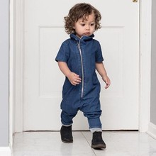 Cowboy Style New Born Baby Clothes Ropa Bebe Summer Short Sleeve Romper Overalls Cotton Baby Onesie 12M-3T Jumpsuit Costume new 2017 ropa bebe branded summer quality 100